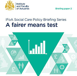 A fairer means test briefing cover with image of bar graph