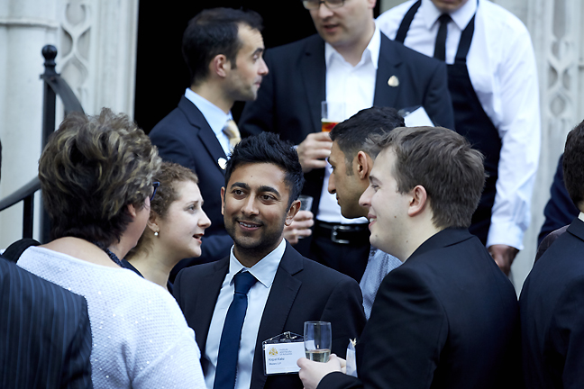 Picture of volunteers at a London reception