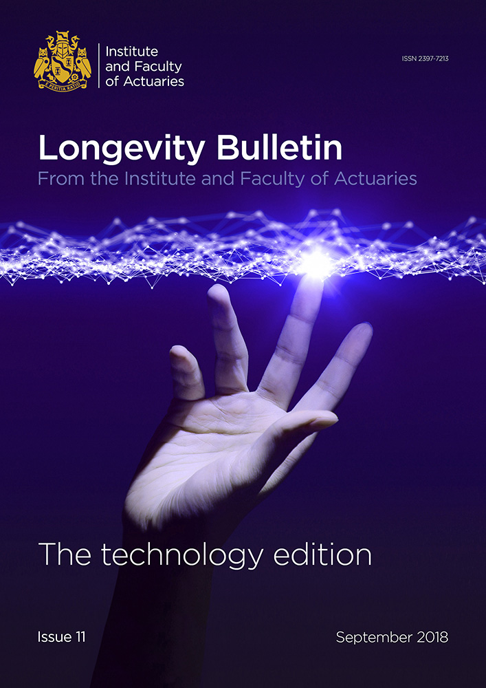 Longevity Bulletin 11 cover - hand reaching electric lights above