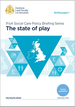 IFoA Social Care Policy Briefing Series cover
