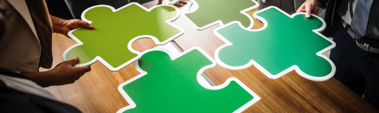 Green puzzle pieces